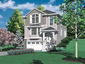 hillside home plans hillside garage plans