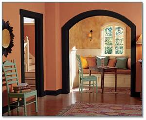 home interior door trim options painting wallpapering With interior paint colors with oak trim