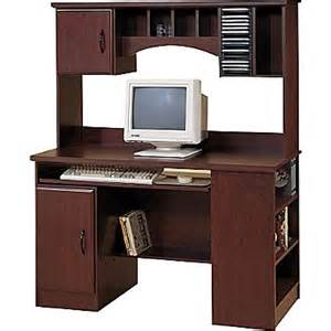 south shore computer desk with hutch royal cherry 4606