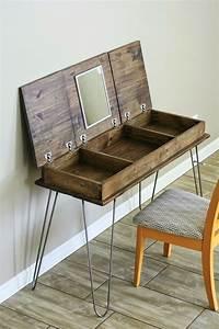 Hairpin Legs - Awesome DIY Furniture Ideas - Pillar Box Blue