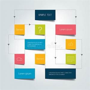 Flow Chart Scheme  Infographics Elements  Stock Vector