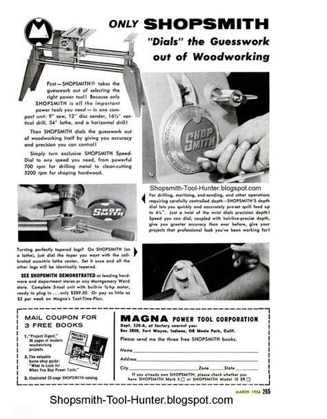 magna shopsmith mark  ad  shopsmith dials