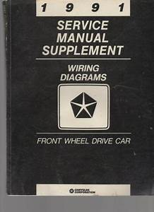 1991 Service Manual Supplement Wiring Diagrams Front Wheel