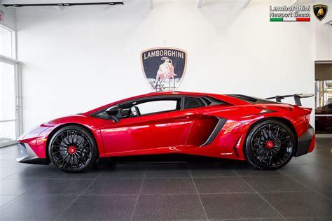 rosso bia lamborghini aventador superveloce side view