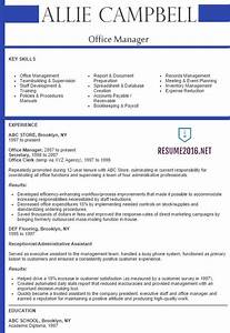 Best Sample Resume 2016