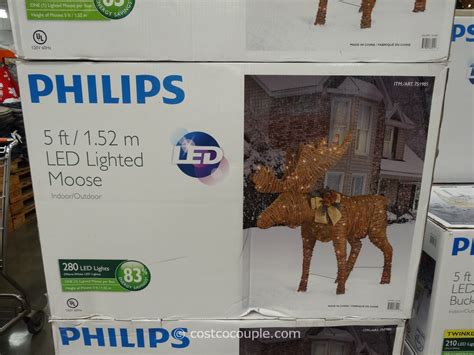 moose 60 inch lighted outdoor display philips 60 inch grapevine moose