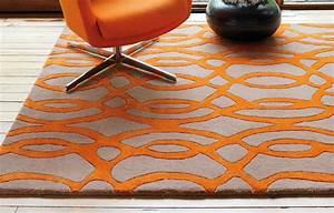 tapis haut de gamme orange et taupe wire par joseph lebon With tapis rouge avec canapé contemporain haut de gamme