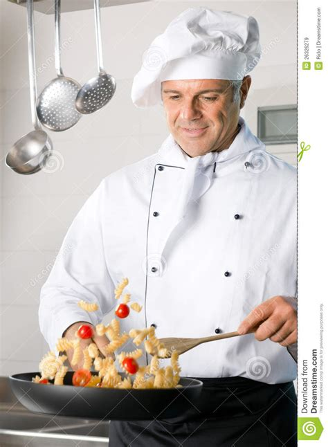 cuisine cook chef cooking pasta stock image image of person hotel