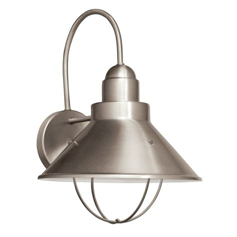 shop kichler seaside 14 25 in h brushed nickel sky