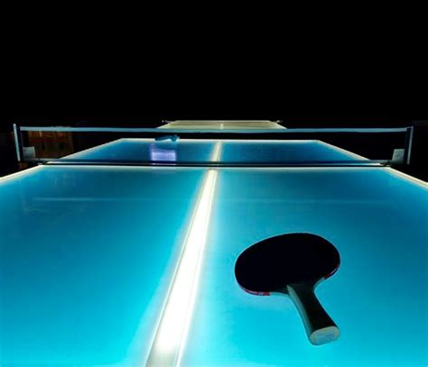 ping pong the original table glow in the dark ping pong table over 21 party rentals