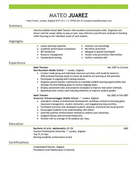 contemporary design resume education exle resume exle resume template