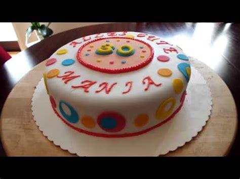 torte mit fondant dekorieren