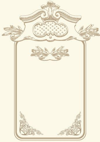 vintage cards borders vector  vector  encapsulated