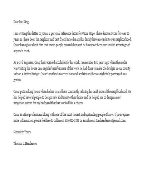 job reference letter templates   word  format