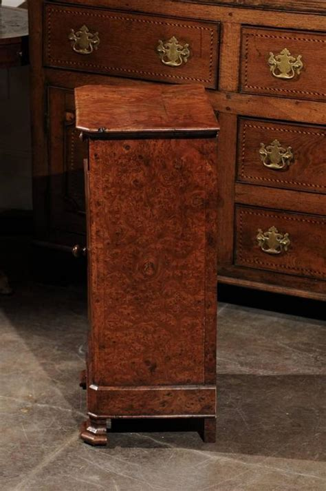 vintage nightstands for burl wood pot cupboard from the 1880s with single 6851