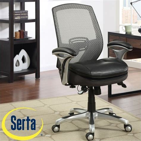 Serta Executive Chair Black Mesh by Serta Ergonomic Mesh Back Task Office Chair With Leather