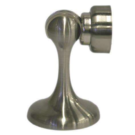 magnetic door stop adoored satin chrome trumpet magnetic door stop bunnings