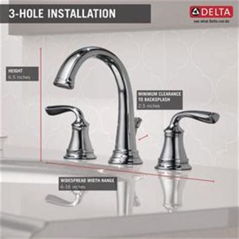 Delta Lorain Faucet 35716lf by Shop Delta Lorain Chrome 2 Handle Widespread Bathroom Sink