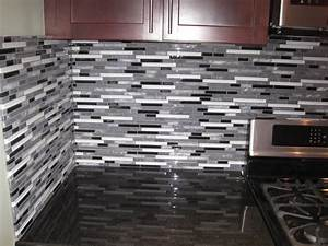 home design 85 outstanding glass tile backsplash ideass With kitchen cabinets lowes with blue mosaic wall art