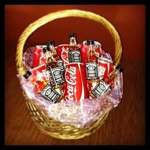 Raffle Box Ideas Jack And Coke Basket Jack Daniels Diy Christmas Gifts