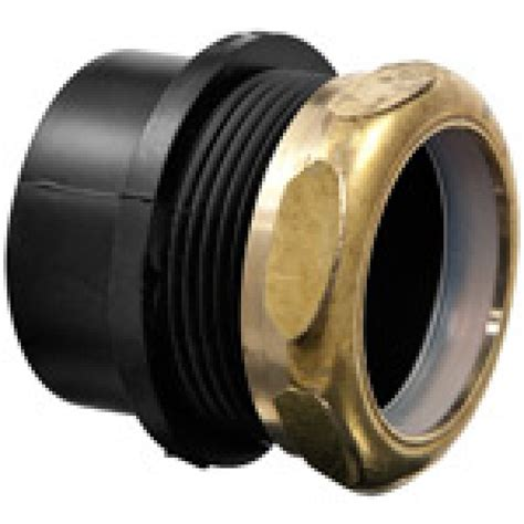 abs male trap adapter spigot  sj wbrass nut dwv