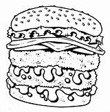 Coloring Junk Cheeseburger Pages Double Fast Decker Drawing Unhealthy Getcolorings Printable Getdrawings Colorings Template sketch template