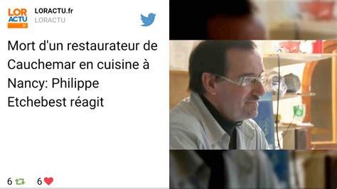 restaurant cauchemar en cuisine un candidat de cauchemar en cuisine retrouvé mort dans