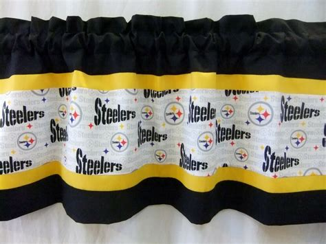 Pittsburgh Steelers Nfl Football Valance Black Gold White