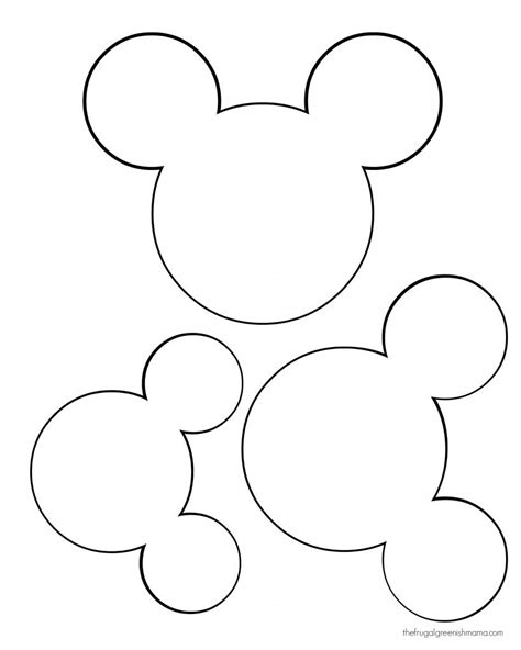 mickey mouse cut  templates