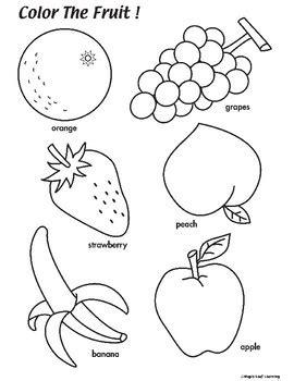 fruit coloring worksheet  maple leaf learning tpt