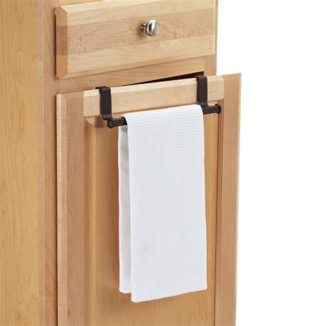 kitchen towel rack interdesign bronze the cabinet towel bar the