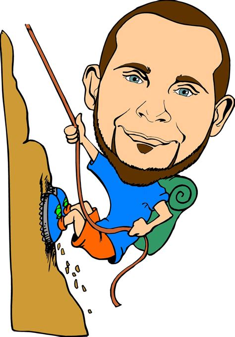 Climbing Clipart Cartoon  Pencil And In Color Climbing
