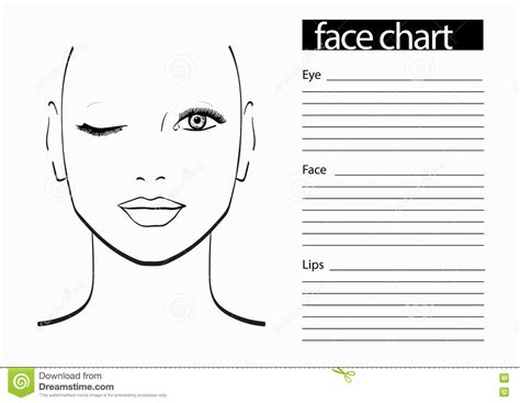 Theatrical Makeup Design Template by Stage Makeup Template Best Photos Of Theatrical Makeup