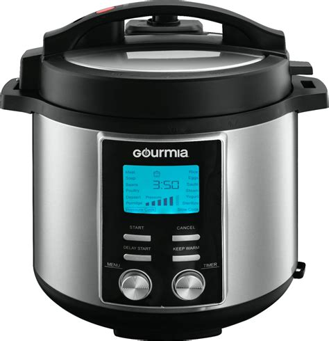 cooker pressure gourmia quart stainless steel fryer air qt cookers emerald digital reg electric 2l 6qt deal sm bestbuy 1802