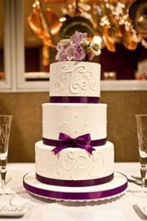 purple wedding cake elegant keywords weddings