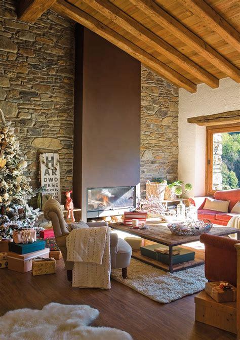 casa rustica decorada  navidad