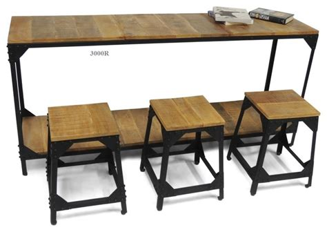 table et chaise bistrot collection rustique industriel ensemble table et