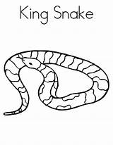 Snake Coloring Pages Print Snakes Printable Animal Cool sketch template