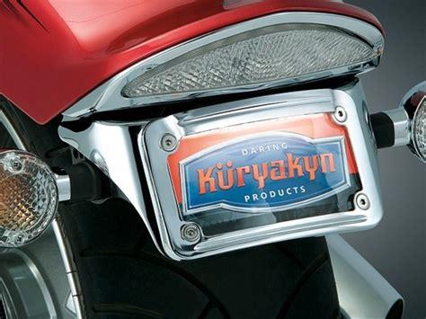 yamaha raider chrome  fender license plate bracket  led frame  kuryakyn