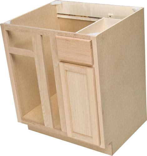 Menards Unfinished Oak Kitchen Cabinets by Quality One 36 Quot X 34 1 2 Quot Unfinished Oak Blind Corner