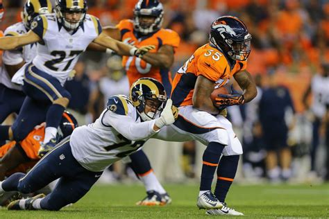 la rams playing time  denver broncos clears  post