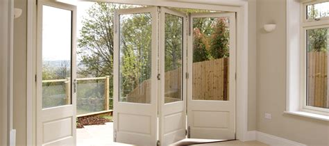 timber bi fold doors folding patio doors mumford wood