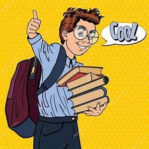 Pop Art Kleidung : back to school gl ckliche sch ler mit rucksack und b chern sehr gestikulieren pop art vektor ~ Indierocktalk.com Haus und Dekorationen