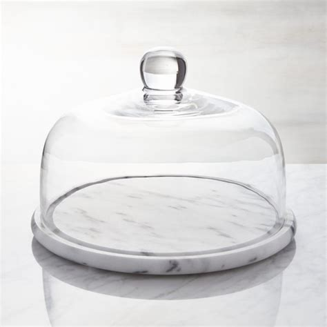 marble  glass cheese dome reviews crate  barrel