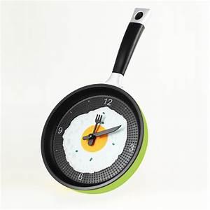horloge poele oeuf au plat vert With dessiner maison en 3d 16 horloges deco maison futee