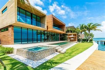 Miami Beach Waterfront Homes Modern Villa Villas