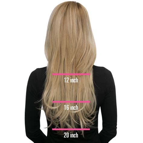 synthetic  piece clip  length chart lox hair extensions