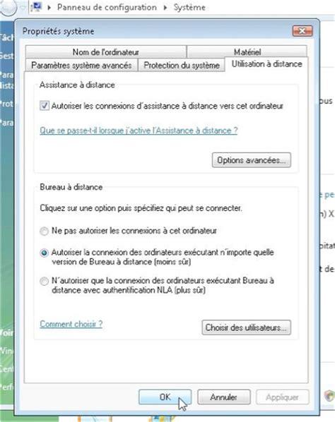 autoriser connexion bureau à distance connexion bureau à distance pour mac réglages du pc sous