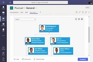 Org Chart Tab For Microsoft Teams With Assistants Dotted