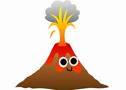Volcano Clipart Eruption Drawing Transparent Mountains Underwater